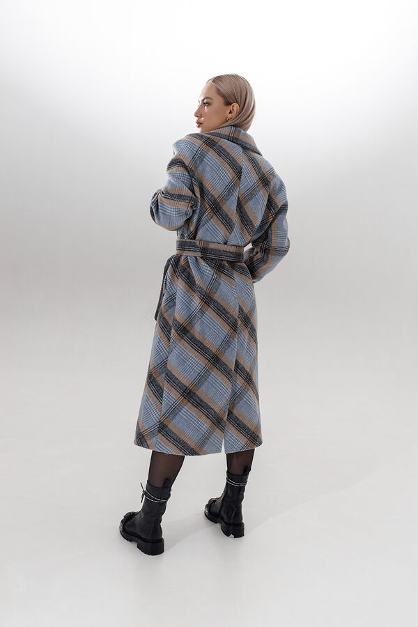 "Пальто в клетку ""blue/beige"""