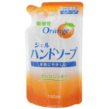 Гель-мыло для рук с ароматом апельсина (сменная упаковка), 200 мл