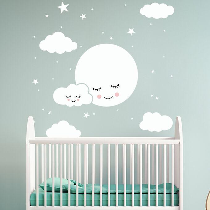 """Наклейка многоразовая интерьерная """"Лунный сон"""" 78,8х80 см (2082)"""