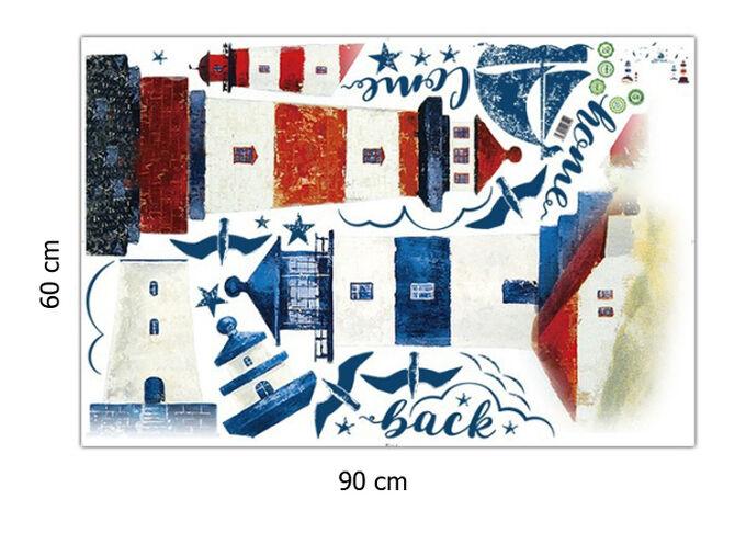 Наклейка многоразовая интерьерная «Маяки» 190*118 см (1469)