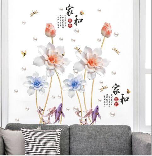 """Наклейка многоразовая интерьерная """"Lotus Flower"""""""