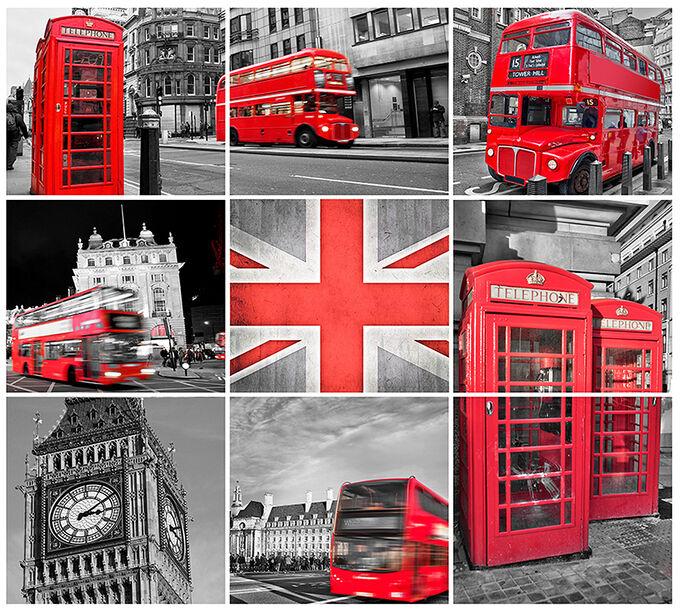 Фотообои Лондон коллаж
