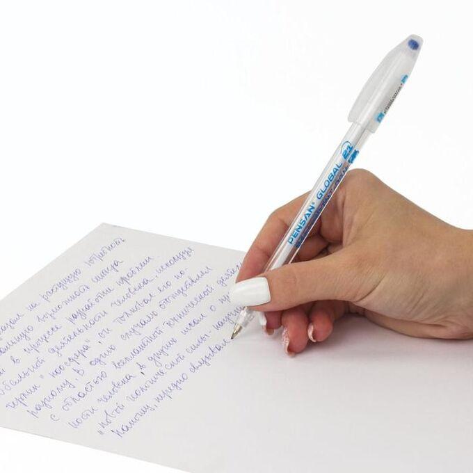 """Ручка шариковая масляная Pensan """"Global-21"""", микс, узел 0,5 мм, линия письма 0,3 мм, дисплей"""