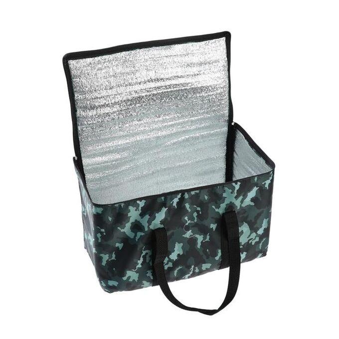Термосумка, камуфляж серый, 17-18 литров, 35х21х24 см