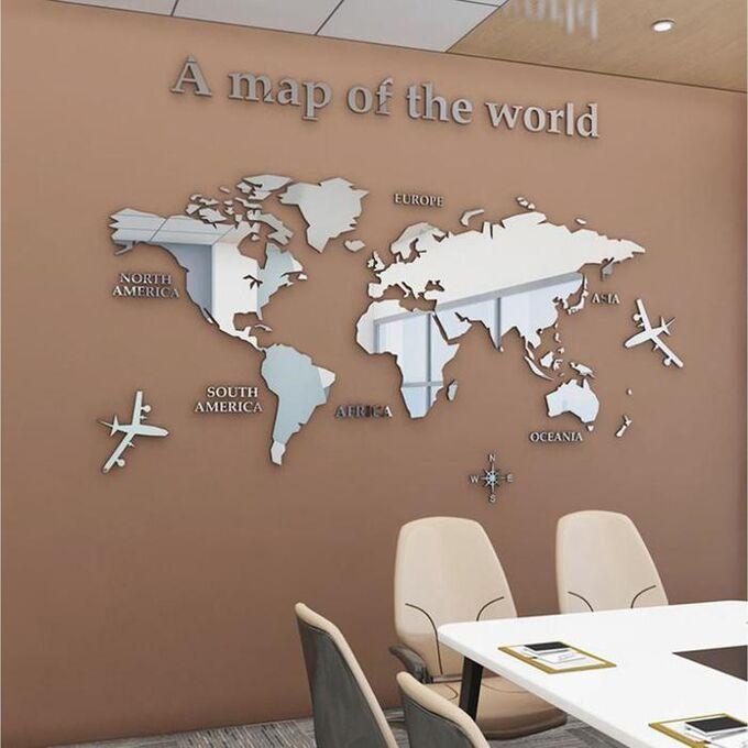 """Панно на стену декоративное  """"Карта мира""""  1.8х1 м"""