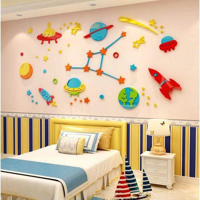 "Панно на стену декоративное ""Космический мир"" 1.8х0.92 м"