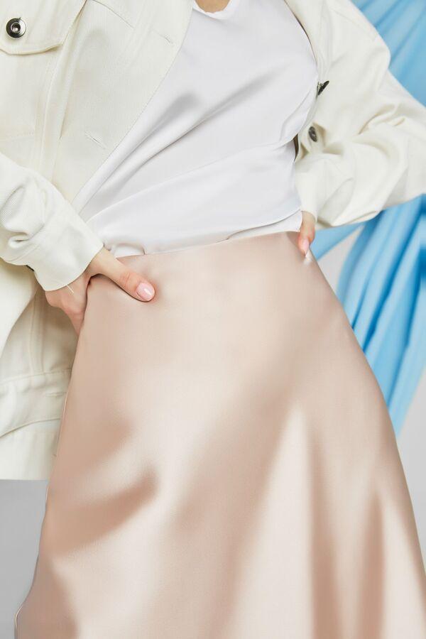 Юбка миди Рост: 164 см. Состав ткани: пэ-100% Юбка женская, нарядная из текстильной ткани. Юбка на подкладке. Застежка на потайную молнию в боковом шве. длина изделия -75 см   юбка 42 44 46 48 2194