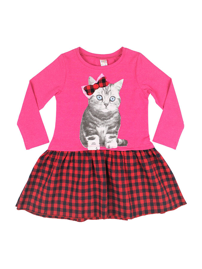 Платье для девочки (малиновый)