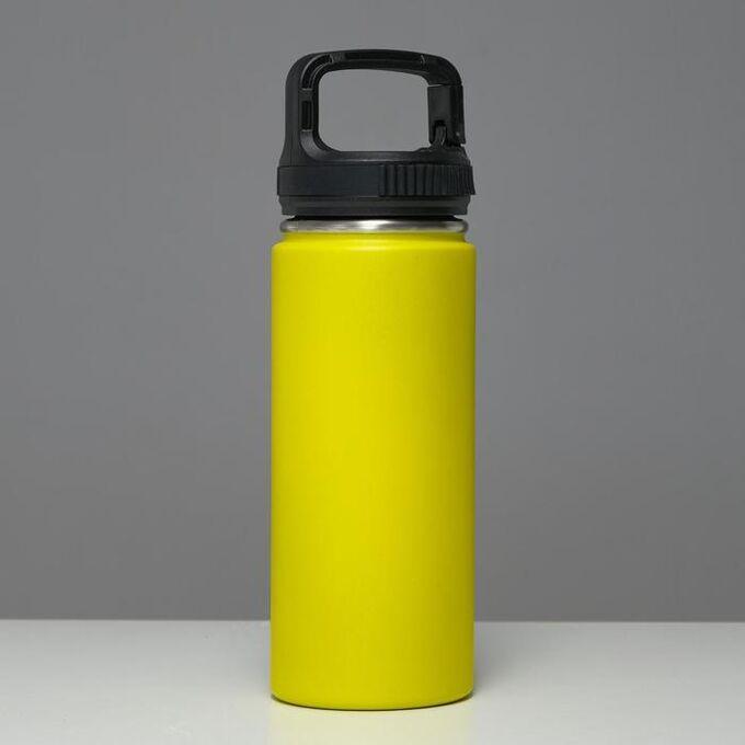 """Термос """"Турист""""1000 мл, сохраняет тепло 24 ч, крышка карабин, жёлтый 5427753"""