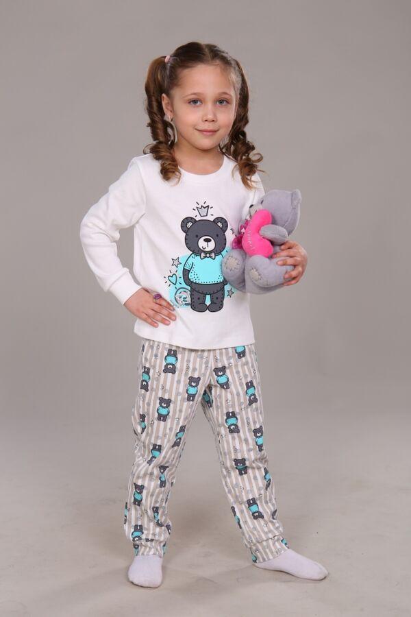 "Пижама для девочки ""Мишка в короне"""