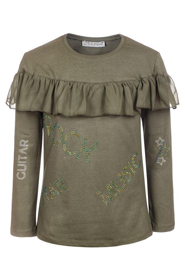 Блузка для девочки,отделка шифон и стразы