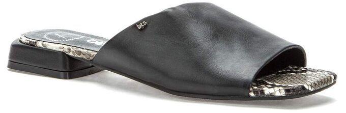 907019/01-01 черный иск.кожа женские туфли открытые (В-Л 2021)
