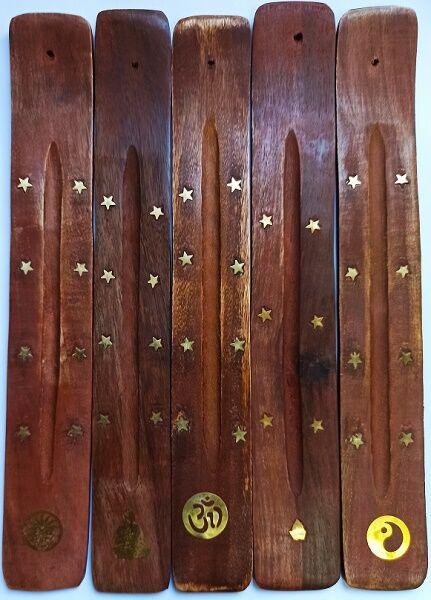 """Подставка для благовония на бамбуковой основе в ассортименте (""""лыжа"""" из дерева)"""