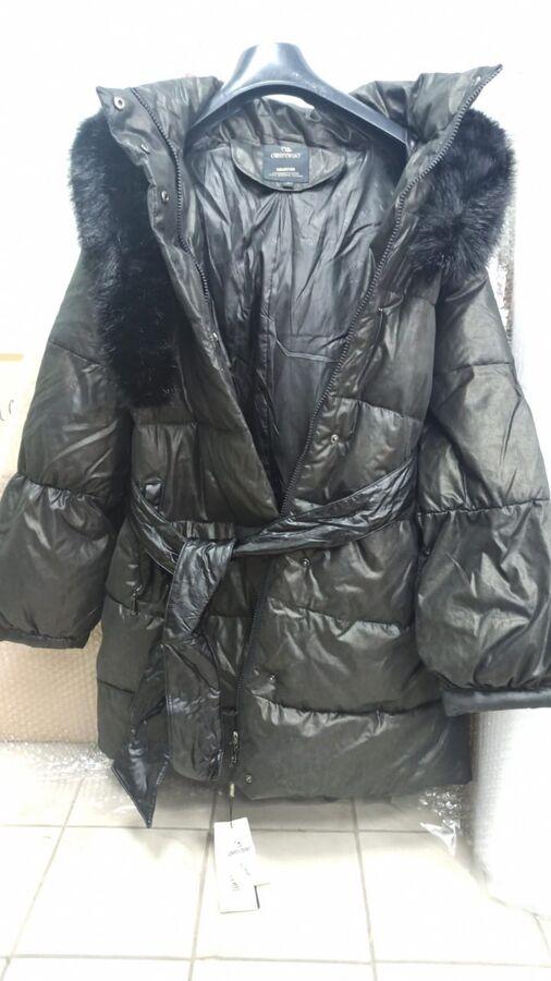 Пуховик зимний черный OMIRENUO