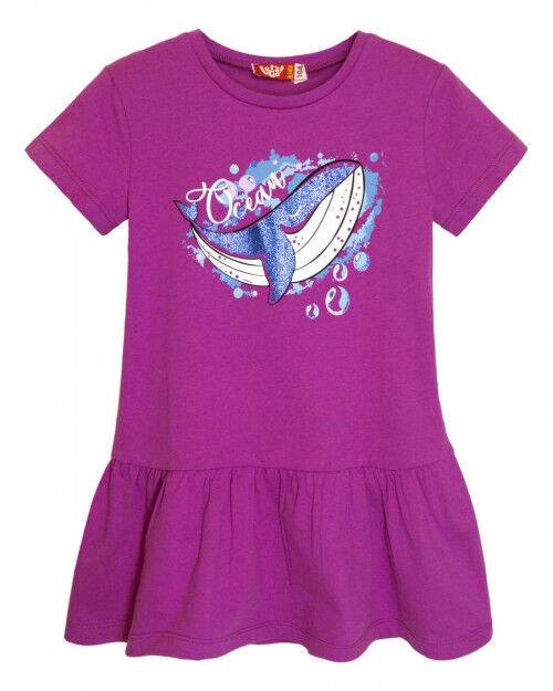 8205 Платье для девочки лиловый