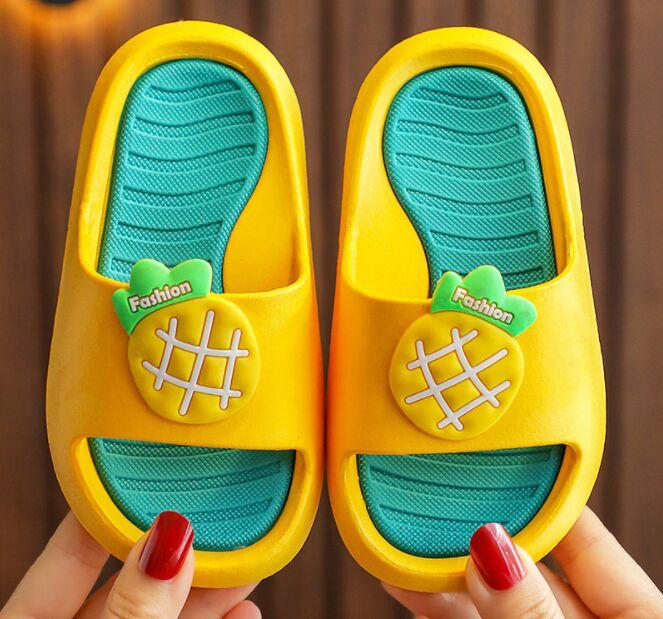 """Детские тапочки, принт """"Сочный ананас"""", цвет желтый в Хабаровске"""