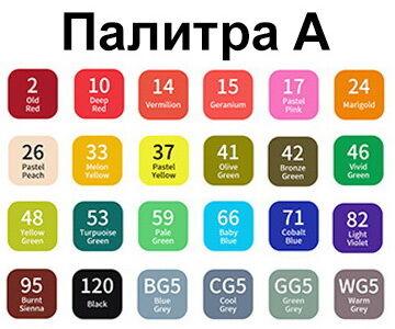 Набор двухсторонних фломастеров / 24 шт.