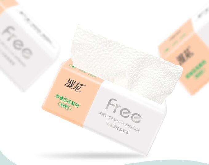Бумажные салфетки Free Love Life / 4-х слойные 1 уп. 240 шт.