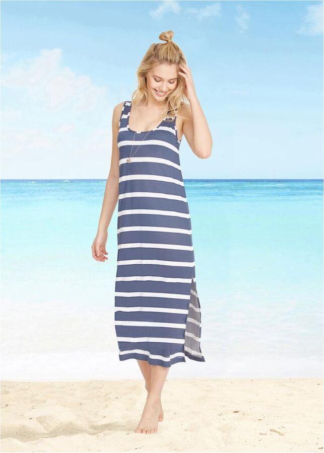 Пляжное платье мак