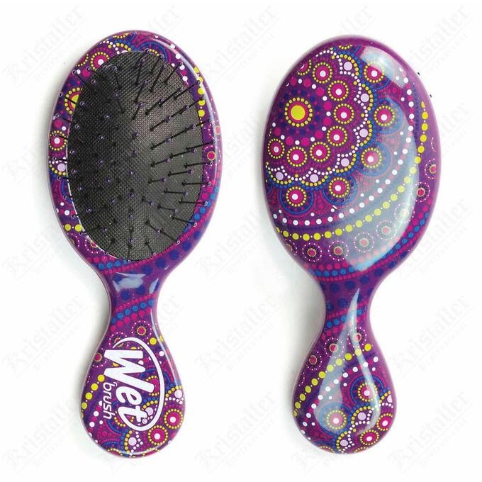 Расчёска для спутанных волос, Wetbrush Mandala Purple Mini