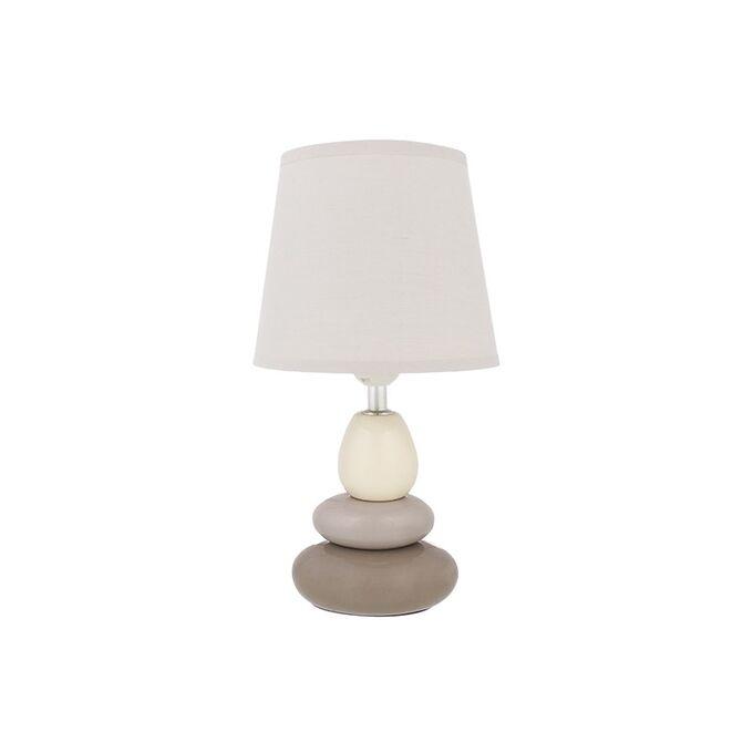 """Настольная лампа 17*17*33,5 см """"Пирамида"""" + крем. круг. абажур"""