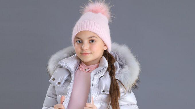 Пуховик для девочки из плащевки