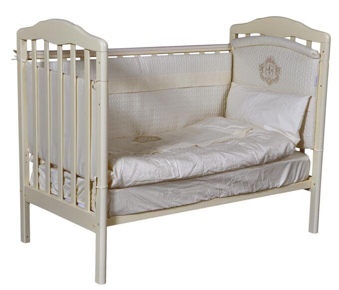 """Детская кровать """"Helen""""(1) а/с, колесо качалка (слоновая кость) 12869"""