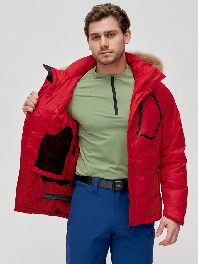 Пуховик мужской Valianly красного цвета 2084Kr
