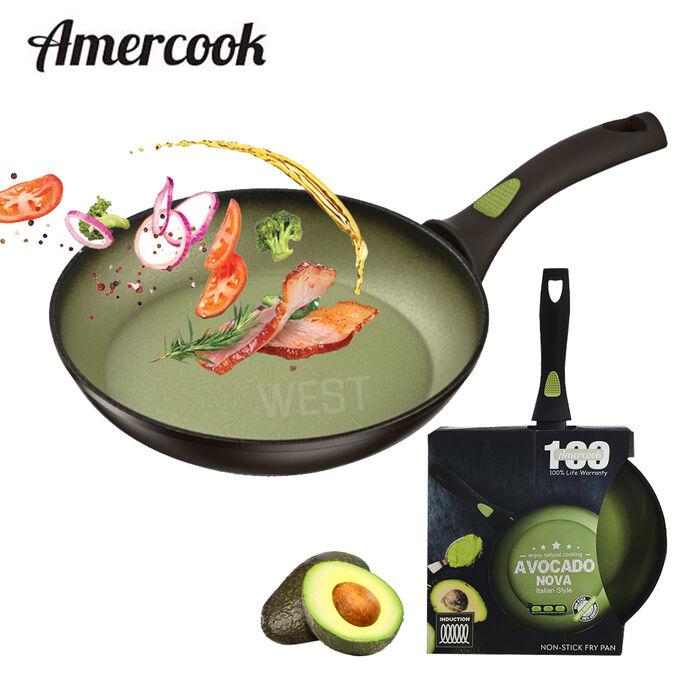 """Сковорода с антипригарным покрытием Amercook """"Avocado Nova"""" / 24 см"""