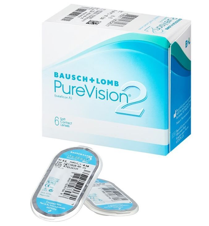 1-мес контактные линзы B&L Pure Vision2 5 линз во Владивостоке