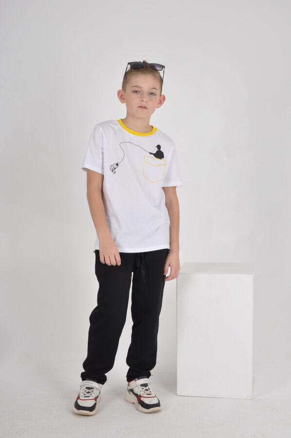 Футболка Количество в упаковке: 1; Артикул: MOD-1480; Цвет: Белый; Ткань: Кулирка; Состав: 95% хлопок, 5% полиэстер; Вес- от: 190 г.; Цвет: Белый Скачать таблицу размеров