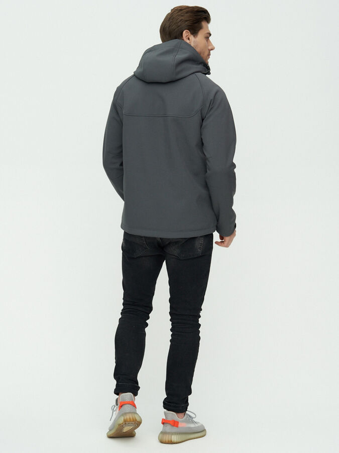 Ветровка мужская MTFORCE темно-серого цвета 2105TC