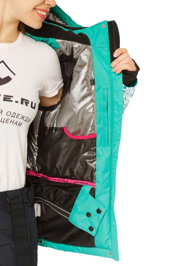 Куртка горнолыжная женская зеленого цвета 17122Z