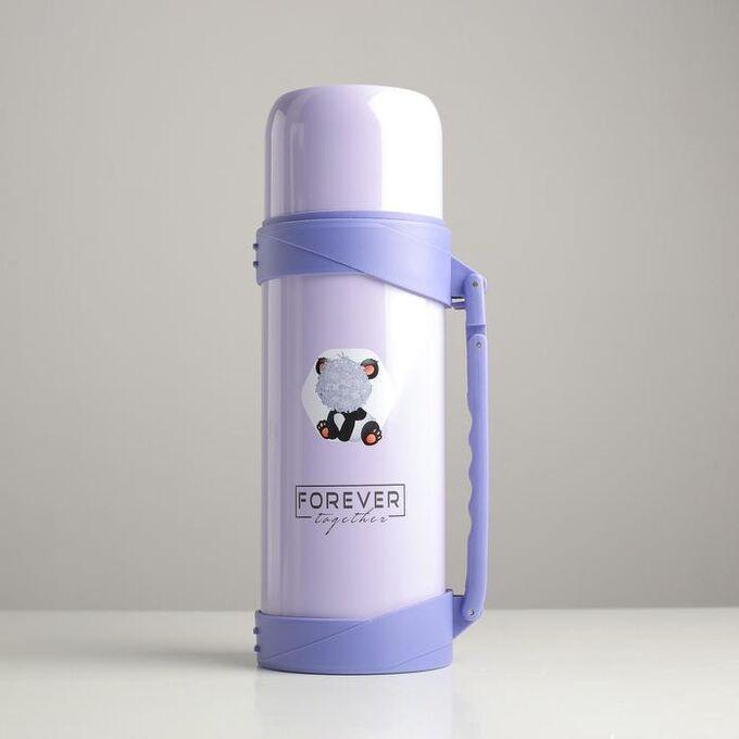 """Термос 1.2 л """"Forever"""", сохраняет тепло 18 ч, фиолетовый 6783271"""