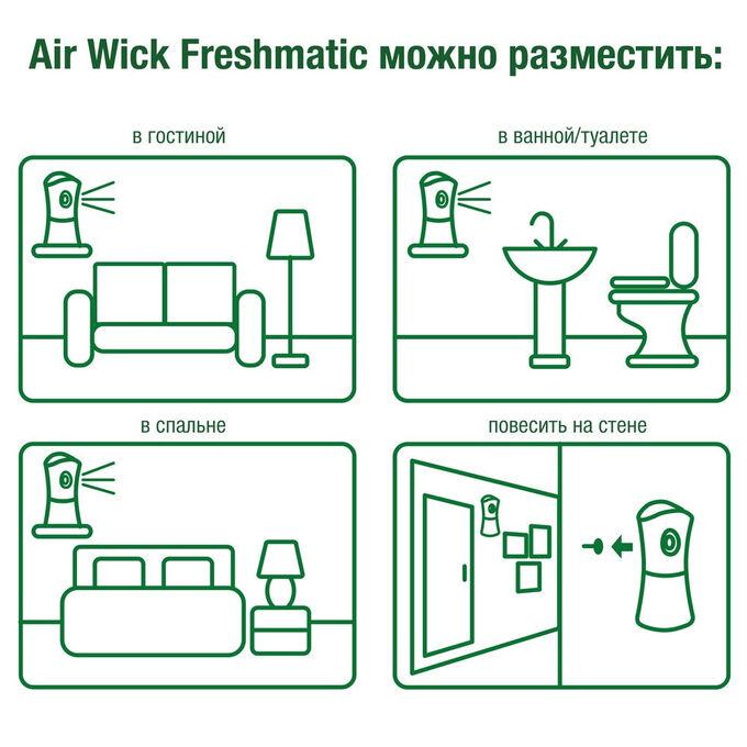 """Освежитель воздуха (сменный баллон) AirWick """"Дикий Гранат"""" 250мл"""