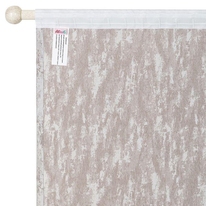 Комплект штор для гостиной, кухни Мистерия латте 200х270 см - 2 шт, 777-3171/1