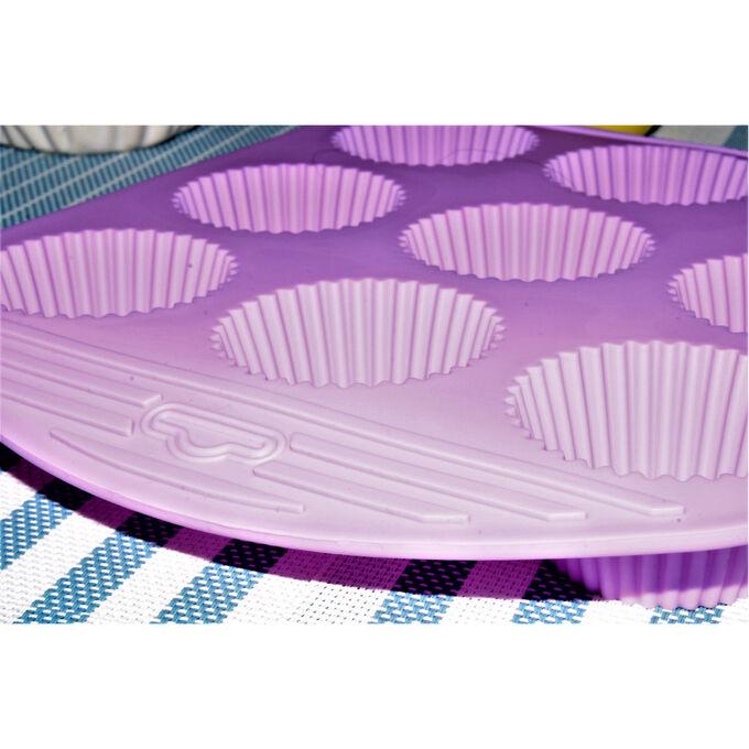 Силиконовая форма для выпечки / 27 x 21,5 x 3,5 см
