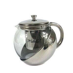 Чайник 900 мл, жаропрочное стекло, н/с 1/36