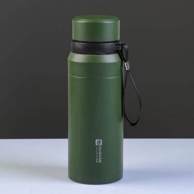 """Термос """"Основа"""" 750 мл, соxраняет тепло 12 ч, с ситечком, зелёный"""