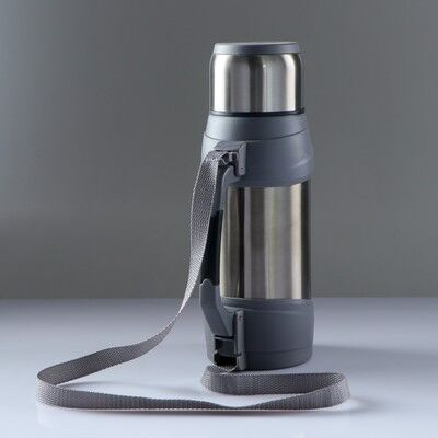 "Термос ""Сайпрес"", 1.75 л, с ремнем на катушке, 20 ч, 16x23 см, микс"