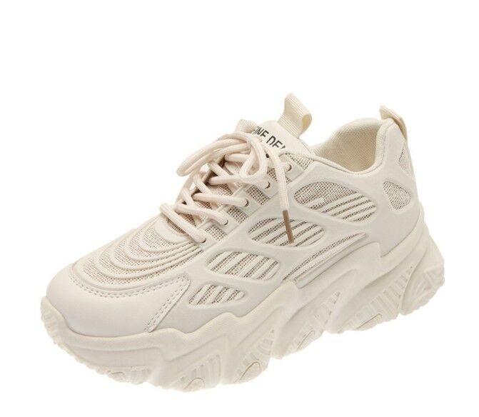 Женские кроссовки, цвет бежевый, тиснение