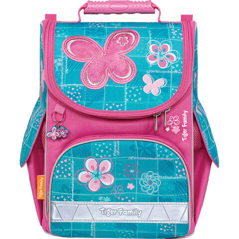 "Ранец TIGER FAMILY для начальной школы, Nature Quest, ""Bubbly Butterfly"", 35х31х19 см, 270207"