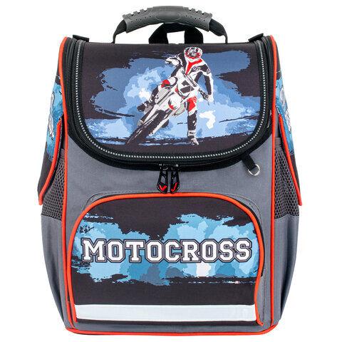 "Ранец BRAUBERG STYLE c эргономичной спинкой, ""Motocross"", 35х28х18 см, 229925"