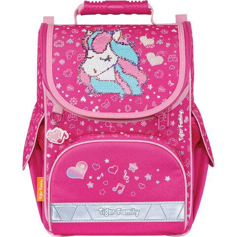 """Ранец TIGER FAMILY для начальной школы, Nature Quest, """"Musical Pony"""" (Pink), 35х31х19 см, 270208"""