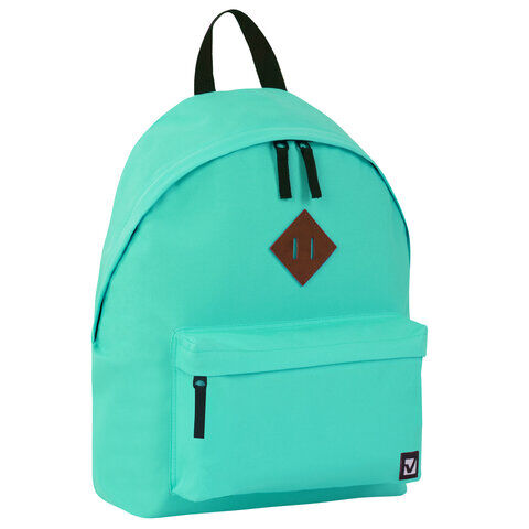 Рюкзак BRAUBERG универсальный, сити-формат, один тон, бирюзовый, 41х32х14 см, 229887