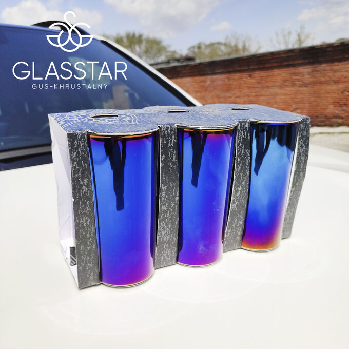 "Набор 6 стаканов Glasstar ""Лавандовый аметист"" / 230 мл"