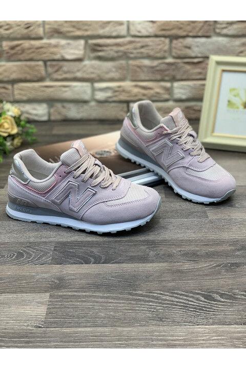Женские кроссовки S109-12 пудровые