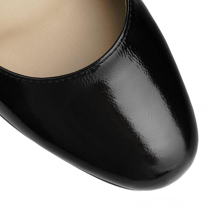 Модельные женские туфли из натуральной кожи. Модель 2384 наплак