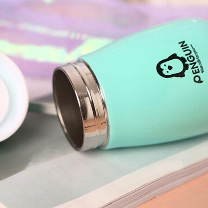 Вакуумная детская термокружка с двумя отсеками для каш супов воды