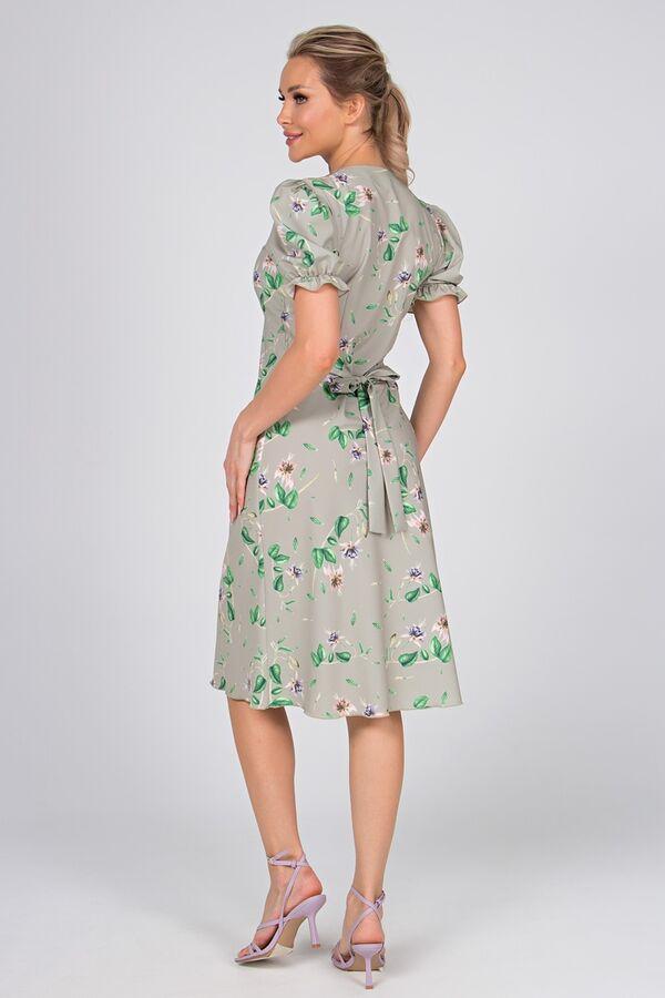 Платье Сиена №1.Цвет:св.зеленый/цветы